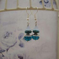 Blue, Earrings, Fairy, Gift for Her, Stocking Filler