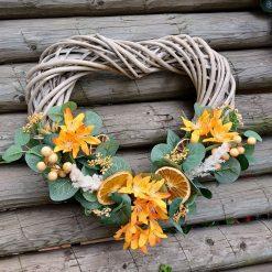 Autumn Heart Wreath, Handmade Heart Wreath, Door Decor, Hand Crafted, Room Decoration