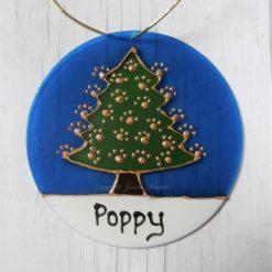 Hand painted pet Christmas Tree sun catcher decoration