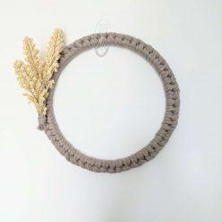 Simple Macrame Wheat Door/Wall Wreath