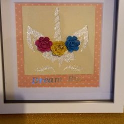 Unicorn box frame picture gift personalised