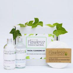 Zero Waste Facial Cleansing Kit. Vegan Skincare Pamper Box, Eco Friendly, Cruelty Free