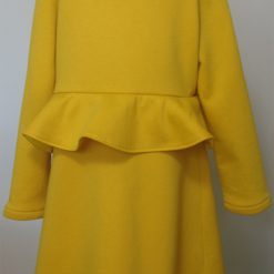 Lucy Dress, Yellow Peplum by SerendipityGDDs for Age 7 1