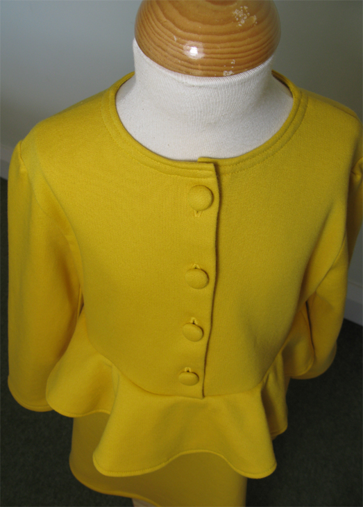 Lucy Dress, Yellow Peplum by SerendipityGDDs for Age 7
