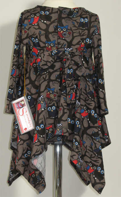 Night Owls dress by SerendipityGDDs for girls age 2