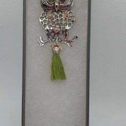 Owl with Swarovski elements Christmas decor/necklace