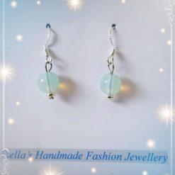 925 Sterling Silver Gemstones ( Opal ) Earring