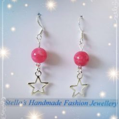 925 Sterling Silver Gemstones ( Red Chalcedony ) Earring