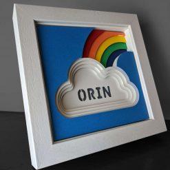 Small Rainbow Personalised Art