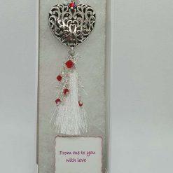 Heart with Swarovski elements - Christmas Decor with Swarovski elements/Necklace