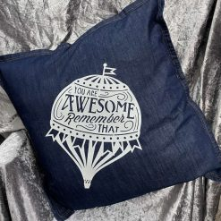 Large scatter cushion with Hot air Balloon