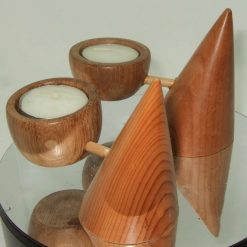 Hand Turned Tealight Candle Holder Contemporary style