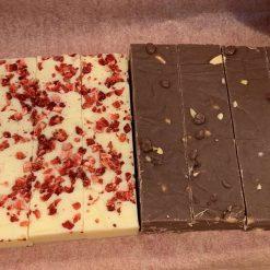 Box of chocolate fudge