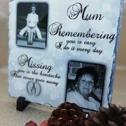 Memorial Slate 20 x 20 cm