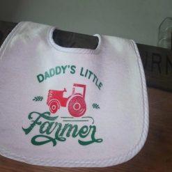 Baby Bib - Daddy's little farmer