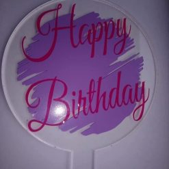 Reusable Happy Birthday cake paddle topper