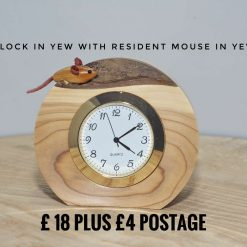 Clock in Hawthorn with resident mouse