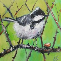 ORIGINAL BIRD ART-COAL TIT
