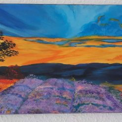 """Original Abstract Acrylic Painting - Abstract Art - """"lavender fields"""""""