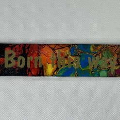 "Handmade rainbow ""Born this way"" bookmark"