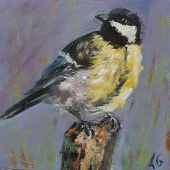 ORIGINAL BIRD ART-GREAT TIT
