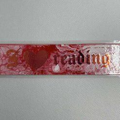 "Handmade pink ""I love reading"" bookmark"