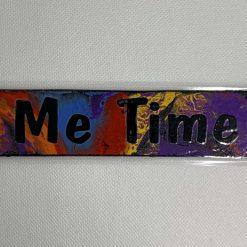 "Handmade multicoloured ""Me Time"" bookmark"