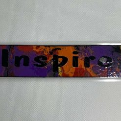 "Handmade multicoloured ""Inspire"" bookmark"