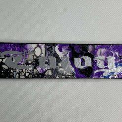 "Handmade purple ""Enjoy"" bookmark"
