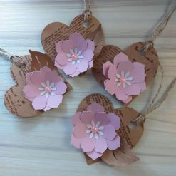 Gift tags hart flower 4