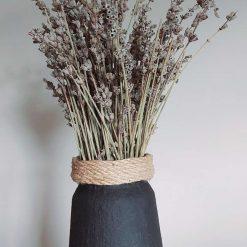 Vase - black - Rope Trim