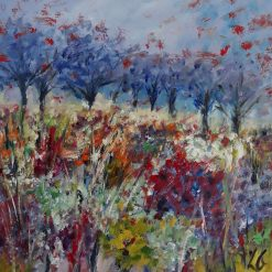 Original Oil Painting-Semi-Abstract Meadow Flowers