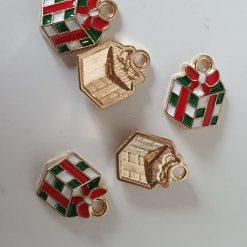 Alloy Enamel Christmas Gift Charms