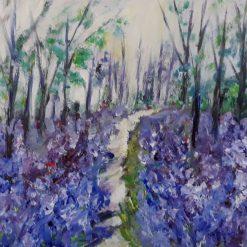 ORIGINAL ART-WOODLAND BLUEBELLS
