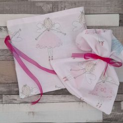 Gift bags.  Set of 2.  Fairy print fabric. Party bags. 20cms