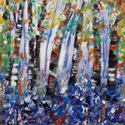 LynnsArt-Birchtrees and Bluebells