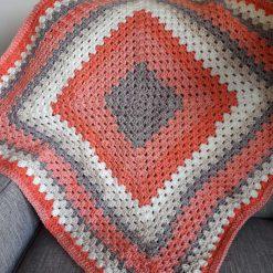 Crochet Peaches and Cream Blanket