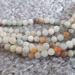 4mm Natural Flower Amazonite Beads Strands