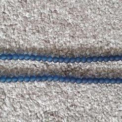 6mm Transparent Night Blue Glass Beads Strands