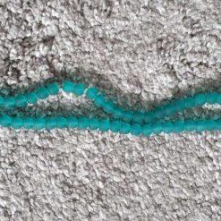 6mm Transparent Dark Green Glass Beads Strands