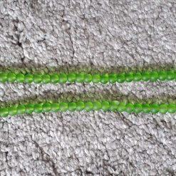 6mm  Transparent Green Glass Beads Strands