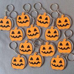 Homemade Halloween key Rings