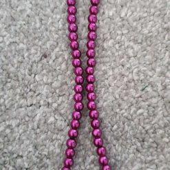 6mm Dark Purple Glass Pearl Beads Strands