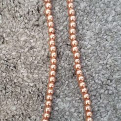 Vintage Gold Glass Pearl Beads Strands