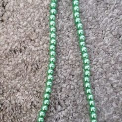 6mm Green Glass Pearl Beads Strands
