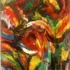 Abstract Art  - flaming pleasure