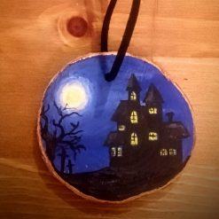 Handmade Halloween Decorations - Haunted House on the Hill