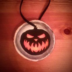 Handmade Halloween Decorations - Creepy Pumpkin