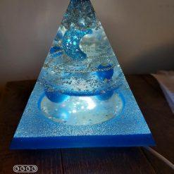 Blue Pyramid LED Lamp Light