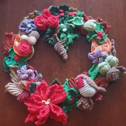 Christmas Robin Wreath (38cm) free delivery